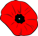 Poppy Remembrance Day clip art medium